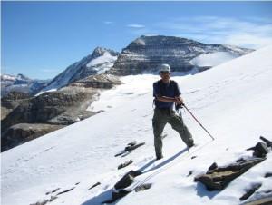 Sun and Snow on Mount Kerr