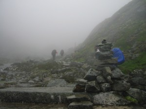 Ascent through the Mist - Day three going up the Chilkoot Pass summit