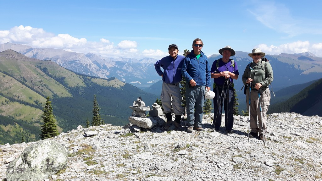 August 2 - Harvey, Geoff, Mike and Stu on West Wind Pass