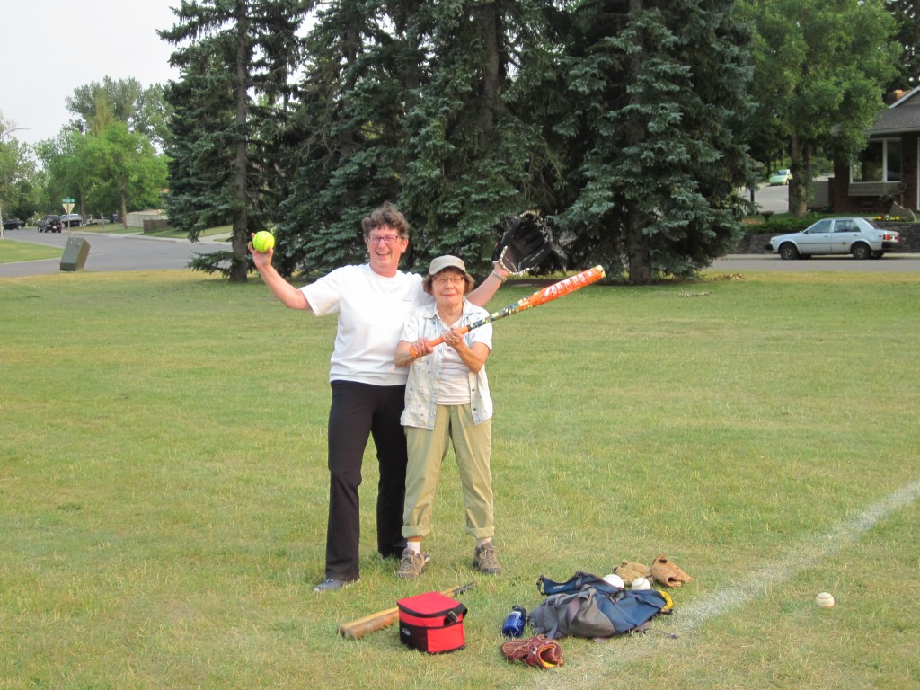 August 3 - Ready to Play Ball - Pat and Carol
