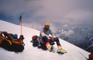 Climber near Camp 3 (6800m)