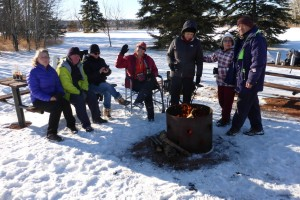 Hot Drinks and a Fire in North Glenmore Park