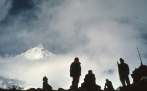 Manaslu Peak (8163m) from Base Camp