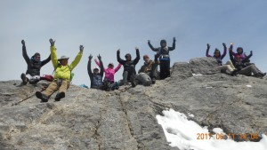 Team CORE celebrates Summiting Ha Ling Peak 11 June 2017