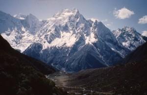 West face of Manaslu as seen from just below Larkye La (5140m)